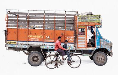 Martin Roemers, 'Tata 608 #2; Truck driver Ayub Sayyad | Hercules bicycle; Day laborer Arun Manjre and son Sunny (Malegon, Maharashtra)', 2019