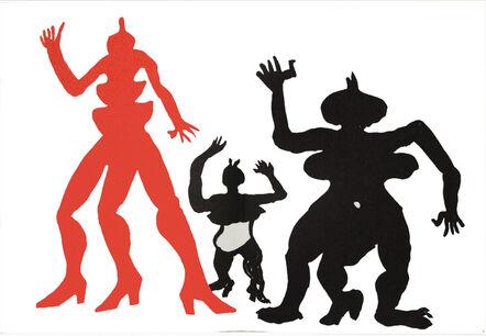 Alexander Calder, 'Three Acrobats from Derrière le Miroir', 1975