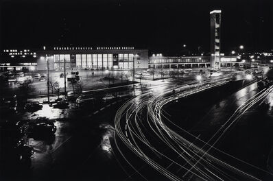 Janis Krievs, 'View with the Riga Central Railway Station and the Clock tower with light kinetic object - multi-programme light system', 1980