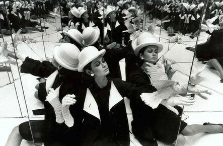 William Klein, 'Isabella + Dove + Mirrors, Paris (Vogue)', 1963