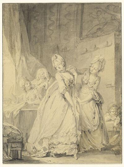 Pierre-Antoine Baudouin, 'The Coquette', 1760s