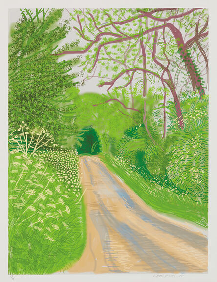 David Hockney, 'The Arrival of Spring in Woldgate, East Yorkshire in 2011 (twenty eleven) - 16 May, 2011', 2011