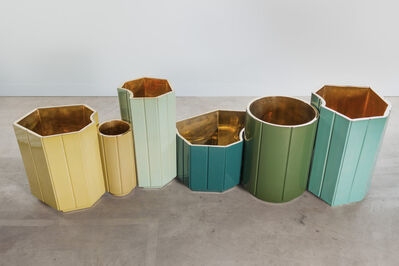 India Mahdavi, 'Landscapes Vases series 1 (S1) FULL SET OF 6 in limited edition of 6 colours - yellow, canard blue, celadon, forest green, celadon, turquoise. individual prices on the next page, total series price', 2013