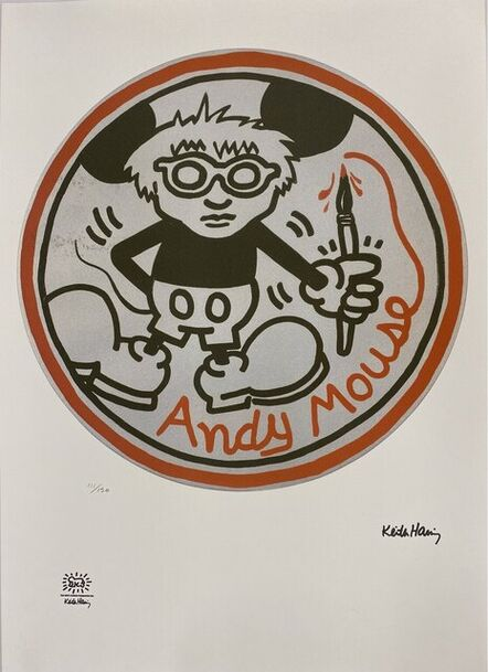 Keith Haring, 'Andy Mouse', ca. 1985