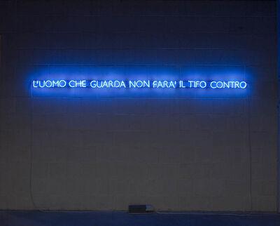 Liliana Moro, 'L'UOMO CHE GUARDA NON FARA' IL TIFO CONTRO', 2008