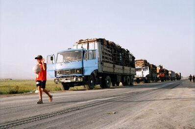 Gulnara Kasmalieva & Muratbek Djumaliev, 'Boy and Truck Caravan', 2006