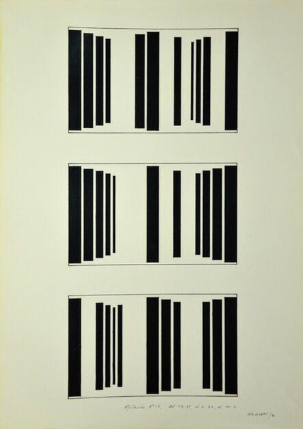 Waldo Balart, 'Mutación #15, del 45:39, al 2:32, al 40:8', 1981