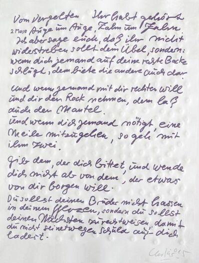 Günther Uecker, 'Friedensgebote, Blatt 7', 2015