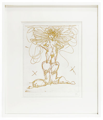 Claes Oldenburg, 'Boot Fairy (First state color 3) framed', 1979