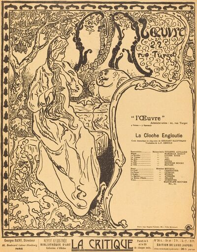 Paul Ranson, 'La Cloche engloutie', 1897