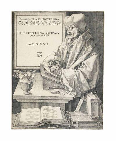 Albrecht Dürer, 'Erasmus von Rotterdam (B. 107; M., Holl. 105; S.M.S. 102)', 1526