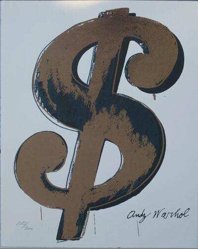 Andy Warhol, 'Dollar Sign $, Beige', 1986