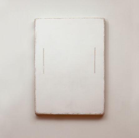 Otis Jones, 'White with two Lines', 2014