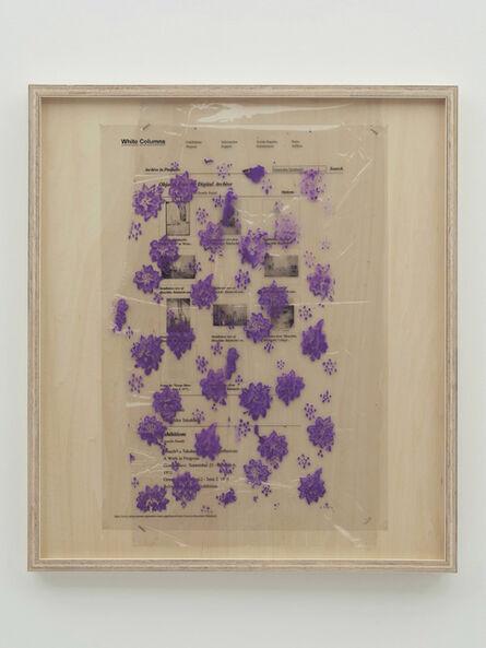 Yuki Okumura, 'Collaboration Study (112 Greene Street Archive – Purple)', 2019