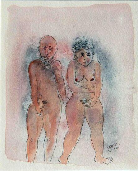 Tasaduq Sohail, 'Untitled (Nude woman and man)', 1982
