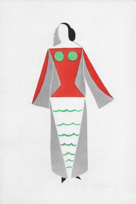 "Sonia Delaunay, 'Robe pour ""Coeur à gaz""', 1969"