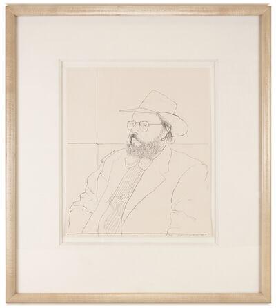 David Hockney, 'Henry Geldzahler with Hat (framed)', 1976