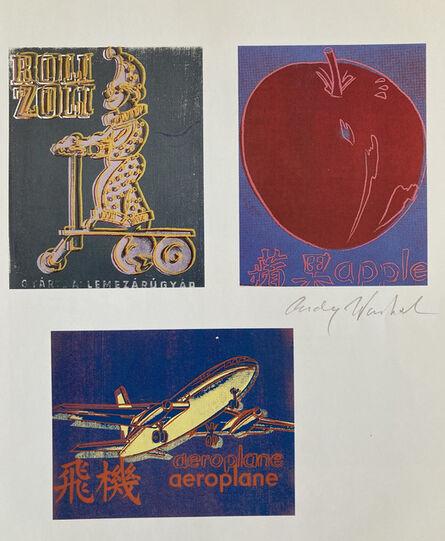 Andy Warhol, 'Roli Zoli, Apple, Aeroplane', 1986
