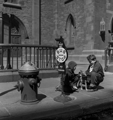 Fred Stein, 'Two Children with Dog (New York)', 1941