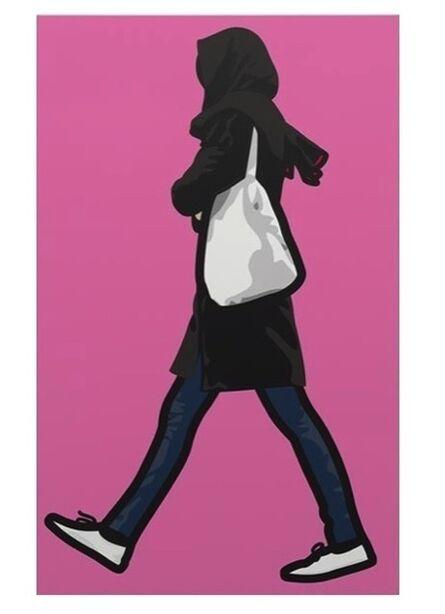 Julian Opie, 'Woman in the rain with headscarf', 2012