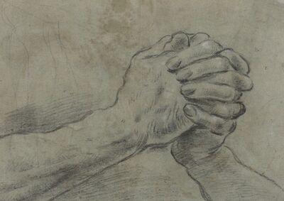 Giacomo Cavedone, 'Clasped Hands [verso]', ca. 1612