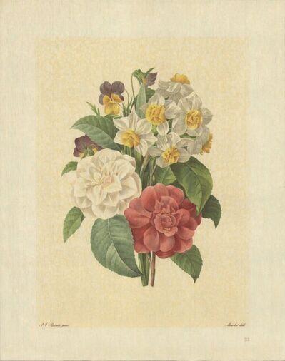 Pierre Joseph Redouté, 'Bouquet De Camelias, Narcisses Et Pensees', 1939