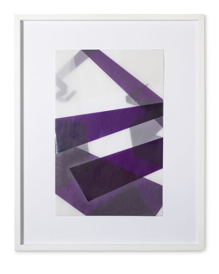 Beat Zoderer, 'Faltungen Lila', 2003