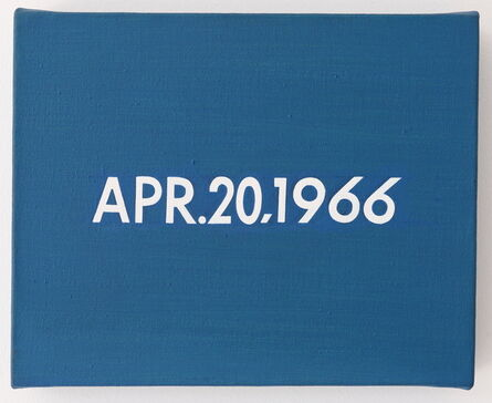 """On Kawara, 'APR.20,1966 """"A dog delayed thousands of New York's subway riders for 2 hours""""', 1966"""
