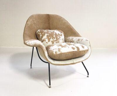 Eero Saarinen, 'Bespoke Vintage Eero Saarinen for Knoll Womb Chair Restored in Brazilian Cowhide', mid 20th Century