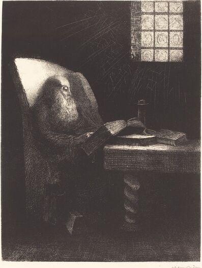 Odilon Redon, 'Le Liseur (The reader)', 1892