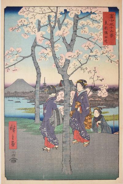 Utagawa Hiroshige (Andō Hiroshige), 'The Bank of Sumida River', 1858