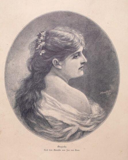 Jan Van Beers, 'Woman's Portrait', 1905