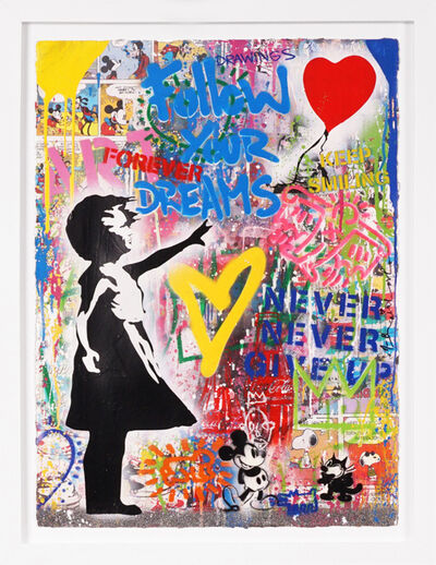 Mr. Brainwash, ''Balloon Girl, Follow Your Dreams' (Unique)', 2021
