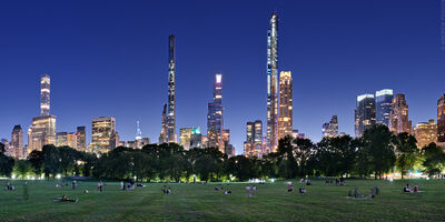 Andrew Prokos, 'Sheep Meadow and Midtown Skyline at Dusk, Central Park ', 2020