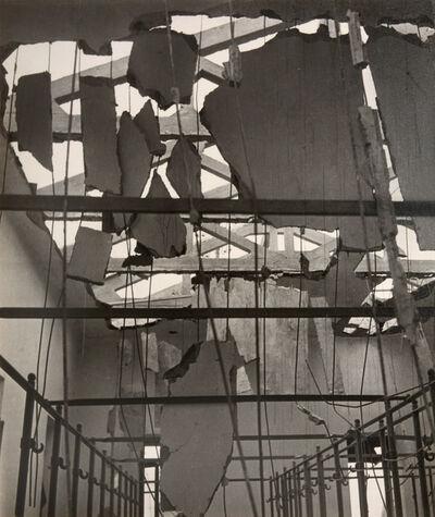 Cecil Beaton, 'Shell-Shattered Ceiling, Fire Station, Tobruk, Libya', 1942