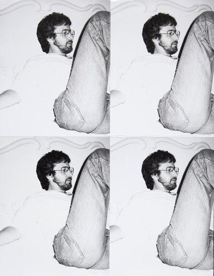 Andy Warhol, 'Steven Spielberg, 4 Silver Gelatin Prints Stitched with Thread', 1982