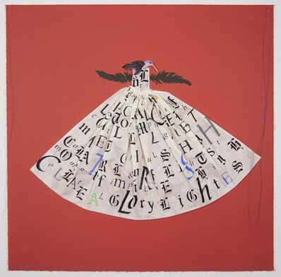 Lesley Dill, 'Hummingbird Dress: Red', 2013
