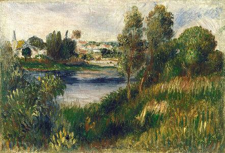 Pierre-Auguste Renoir, 'Landscape at Vétheuil', ca. 1890
