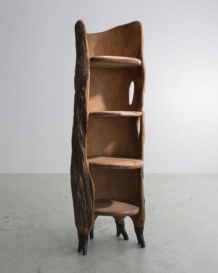 "Babacar Niang, 'Sculptural ""Khamb (Thunder Cabinet)"" Carved Shelf ', 2014"