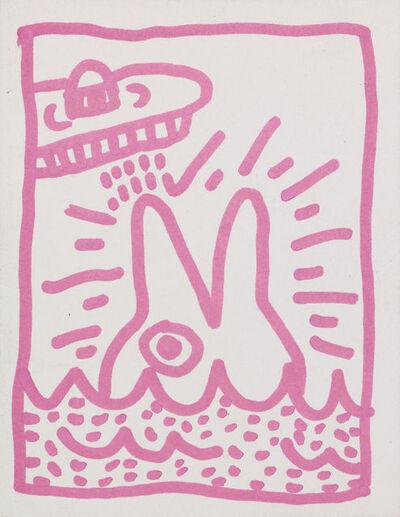 Keith Haring, 'U.F.O. and Dolphin', 1982