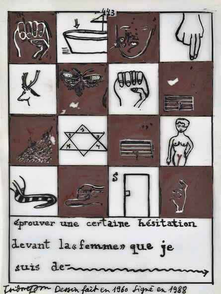 Isidore Isou, '443', 1960