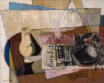 Marguerite Louppe, 'Téléphone, journal et vase', ca. 1940
