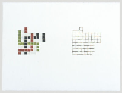 Julia Fish, 'Study for Entry Borders and Corners #1', 1999