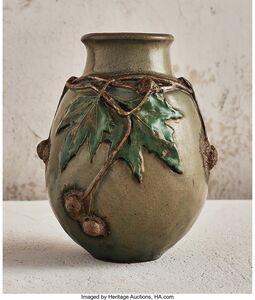 Henri-Leon-Charles Robalbhen, 'Oak Leaf Vase', circa 1900