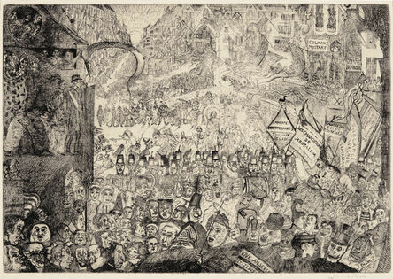 James Ensor, 'The Entry of Christ into Brussels', 1899