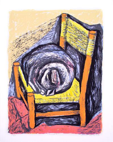 Alfredo Zalce, 'Mi Gato', 1990