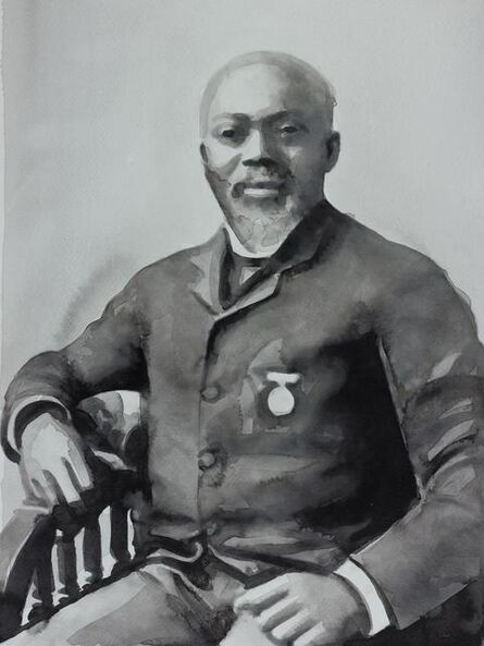"""Radenko Milak, '23. May 1900 - American Civil War Sergeant William Harvey Carney is awarded the Medal of Honor, for his heroism in the Assault on the Battery Wagner in 1863. From the series """"365""""', 2013"""