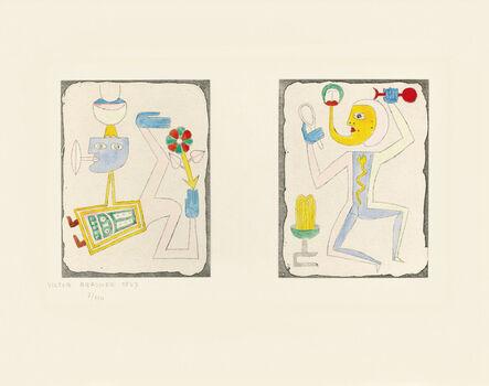 Victor Brauner, 'Untitled, from Brunidor Portfolio Number 2, 1947-1952', 1947