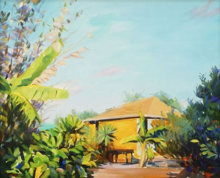 """Ricardo """"Cardo"""" Knowles, 'View of a cottage and garden'"""