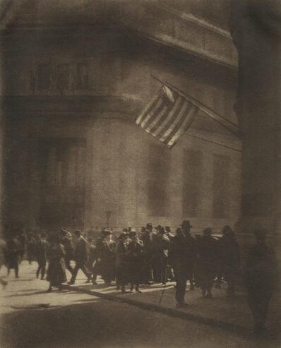 William Gordon Shields, 'A Wall Street Corner at Noon Hour', ca. 1910